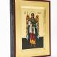 Ikona Święty Rafał Archanioł zielony płaszcz mała