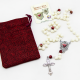 Różaniec z Tarczą Najświętszego Serca Pana Jezusa w woreczku