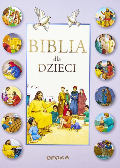 Biblia dla dzieci różowa kółka