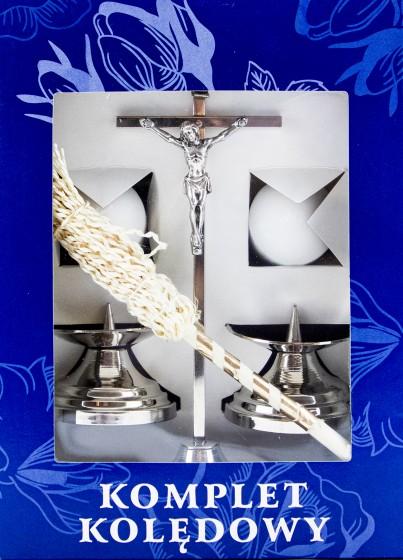 Komplet kolędowy prosty srebrny
