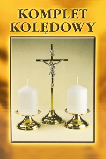 Komplet kolędowy krzyż prosty złoty