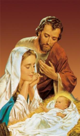 Obrazki kolędowe - Święta Rodzina / żłóbek