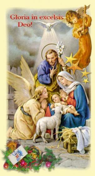 Obrazki kolędowe - Święta Rodzina Gloria in excelsis Deo!