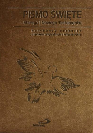 Pismo Święte Starego i Nowego Testamentu. Paginatory, oprawa brązowa