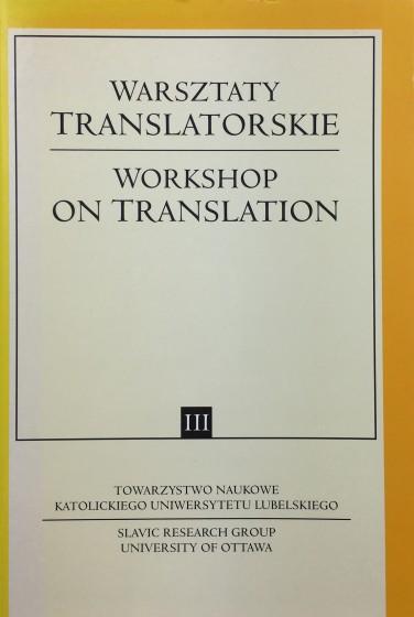 Warsztaty translatorskie / Workshop on translation III / Outlet