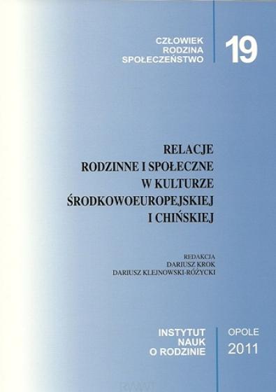 Relacje rodzinne i społeczne w kulturze środkowoeuropejskiej i chińskiej / Outlet