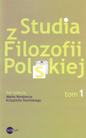 Studia z Filozofii Polskiej. Tom 1 / Outlet