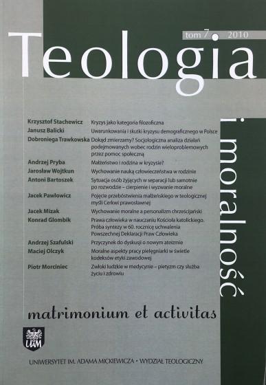 Teologia i moralność Tom 7 / 2010 / Outlet