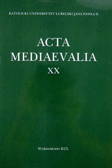 Acta Mediaevalia XX / Outlet
