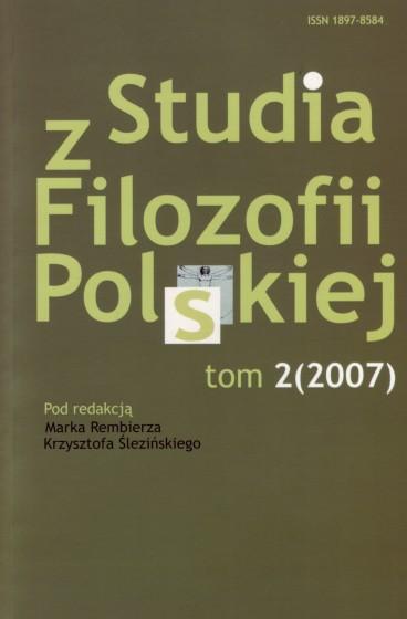 Studia z Filozofii Polskiej. Tom 2 / Outlet