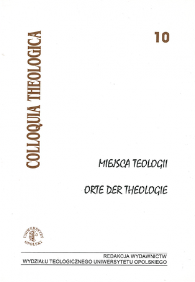 Miejsca Teologii. Orte der theologie / Outlet
