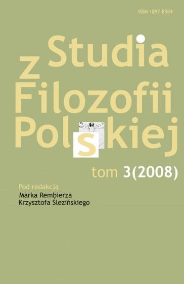 Studia z Filozofii Polskiej. Tom 3 / Outlet