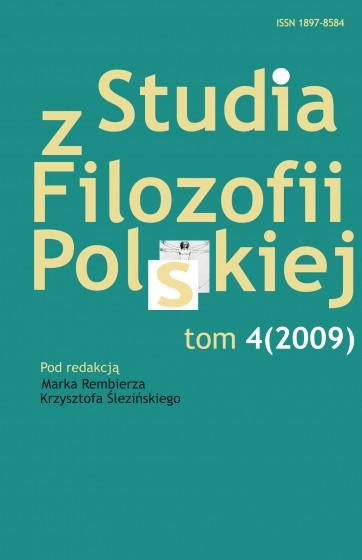 Studia z Filozofii Polskiej. Tom 4 / Outlet