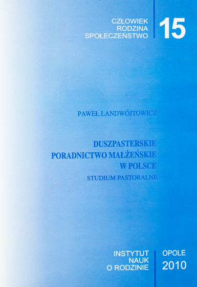 Duszpasterskie poradnictwo małżeńskie w Polsce / Outlet