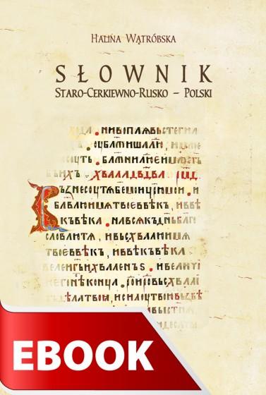 Słownik staro-cerkiewno-rusko - polski