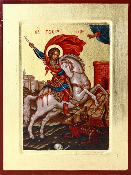Ikona Święty Jerzy mała