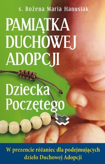 Pamiątka Duchowej Adopcji Dziecka poczętego