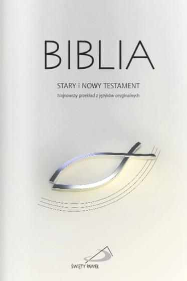 Biblia szara z rybką