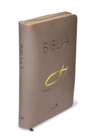 Biblia. Stary i Nowy Testament z rybką