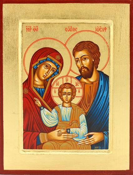 Ikona Święta Rodzina (niebieska) - duża
