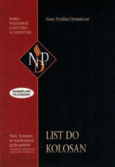 List do Kolosan Nowy przekład dynamiczny  / Wyprzedaż