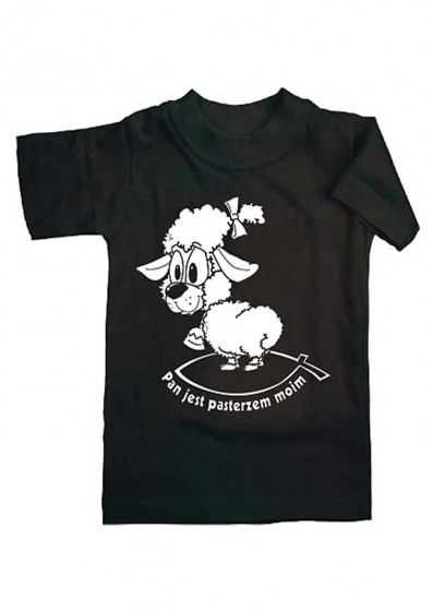 Koszulka - Pan jest pasterzem moim (czarna, L)