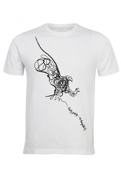 Koszulka męska - Bądź prosty - nie komplikuj (biała, XL)
