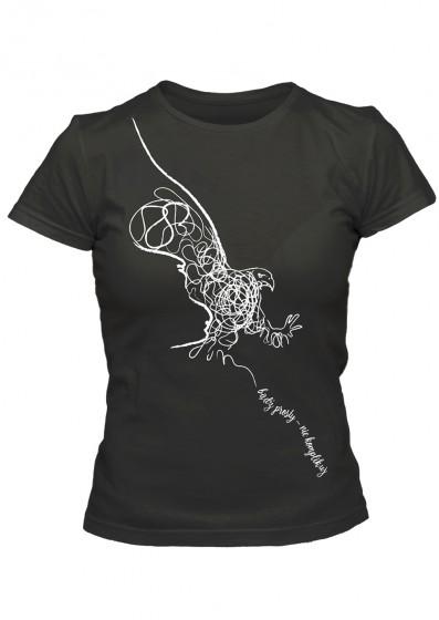 Koszulka damska - Bądź prosty - nie komplikuj (czarna, M)