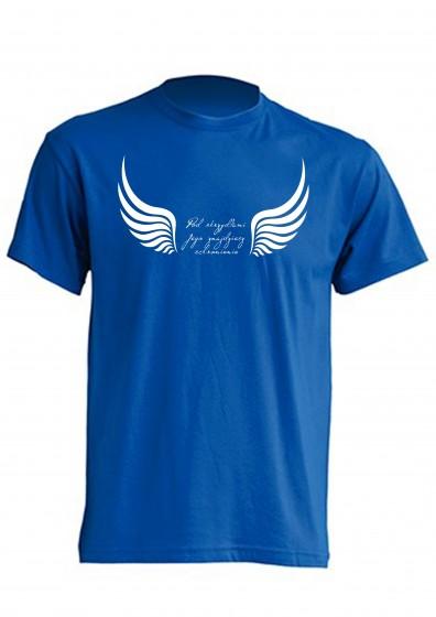 Koszulka - Pod skrzydłami Jego (niebieska, XXL)