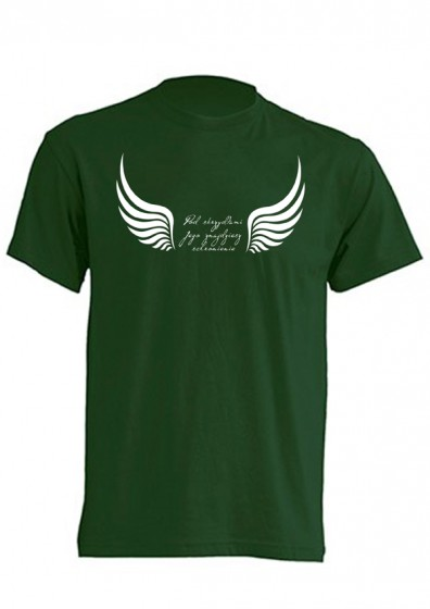 Koszulka - Pod skrzydłami Jego (zielona, L)