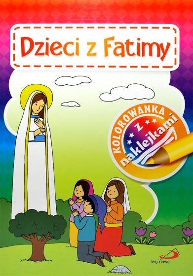 Dzieci z Fatimy. Kolorowanka z naklejkami