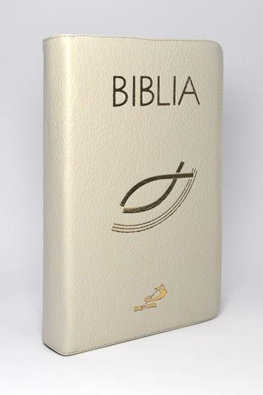 Biblia z rybką ecru