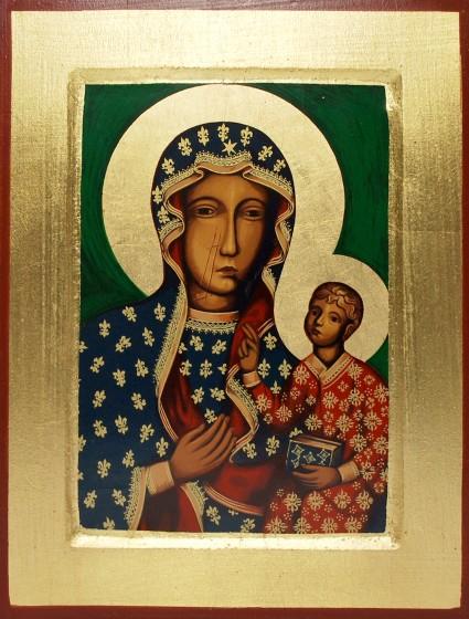 Ikona Matka Boża Częstochowska (średnia)