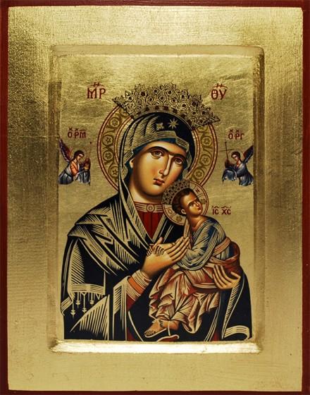 Ikona Matka Boża Nieustającej Pomocy (niebieska)