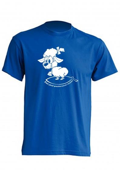 Koszulka - Pan jest pasterzem moim (niebieska, XXL)