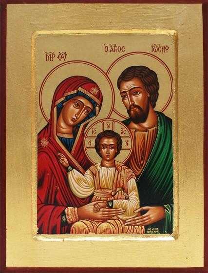 Ikona Święta Rodzina (zielona)