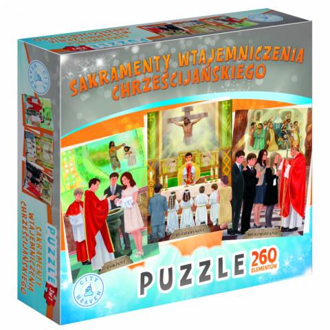 Sakramenty wtajemniczenia chrześcijańskiego (puzzle)