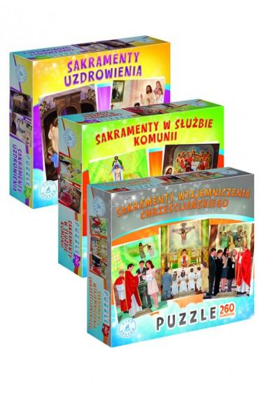Sakramenty święte - zestaw puzzli