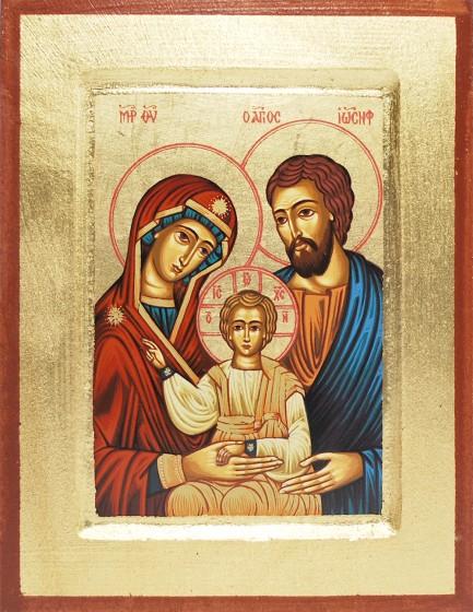 Ikona Święta Rodzina niebieska 2