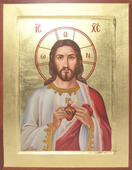Ikona Serce Pana Jezusa średnia