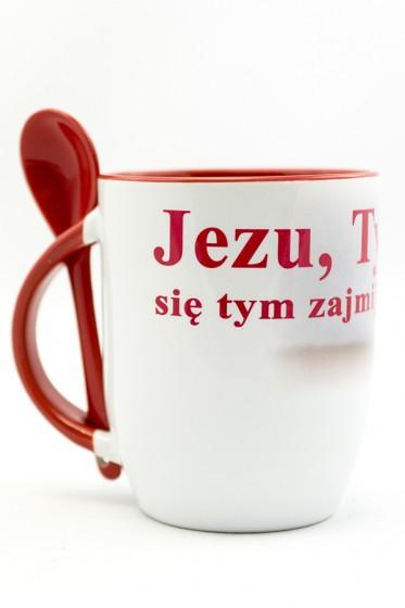 Kubek z łyżeczką - Jezu, Ty się tym zajmij!