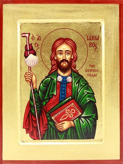 Ikona Święty Jakub Apostoł mała