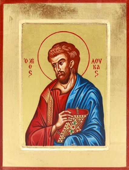 Ikona Święty Łukasz Apostoł niebieski średnia