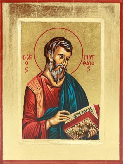 Ikona Święty Mateusz Apostoł niebieska średnia