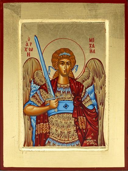 Ikona Święty Michał Archanioł miecz mała