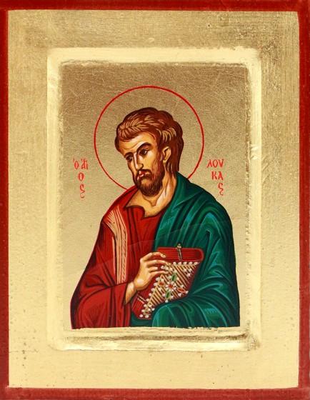 Ikona Święty Łukasz Apostoł zielony mała