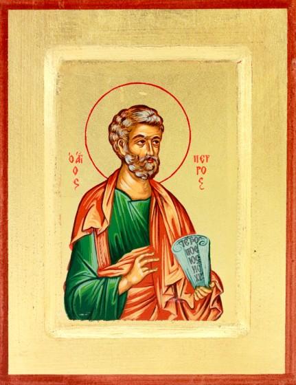 Ikona Święty Piotr Apostoł zielona mała