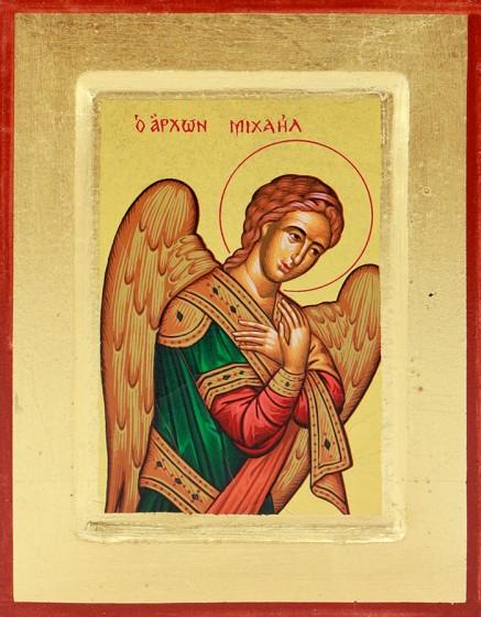 Ikona Święty Michał Archanioł mała skrzyżowane ręce