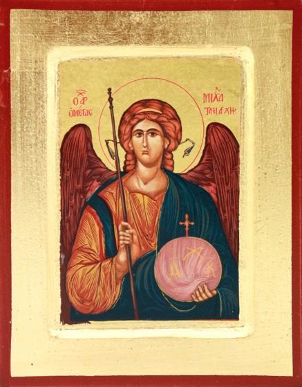 Ikona Święty Michał Archanioł średnia kula