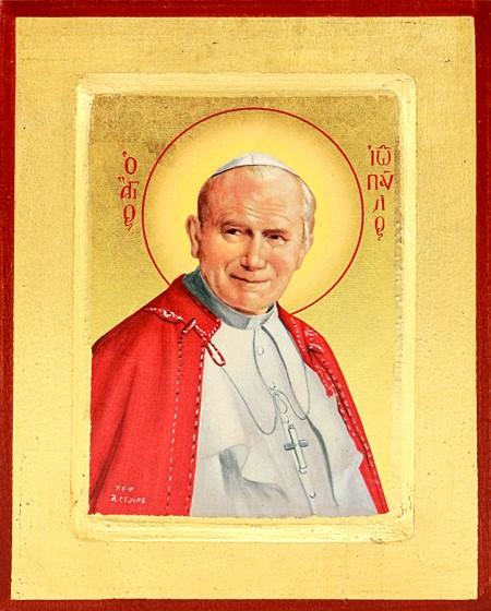 Ikona Święty Jan Paweł II średnia